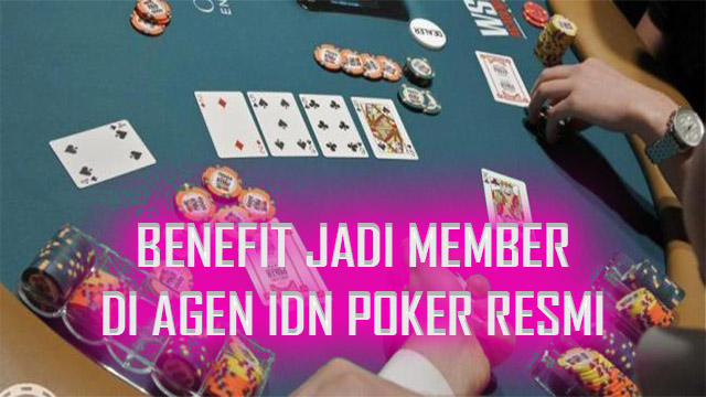 Benefit Jadi Member Agen Idn Poker Resmi